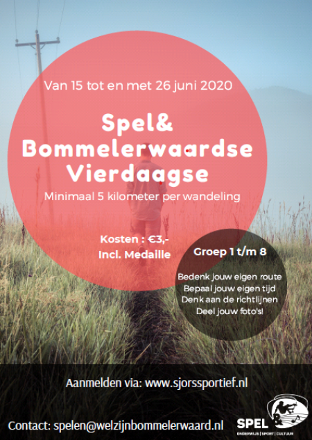 Poster Spel& Bommelerwaardse Vierdaagse[37712]